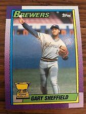 1990 Topps Gary Sheffield Milwaukee Brewers #718