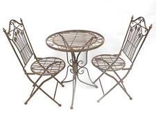 Eisen Gartenmöbel Braun Bistroset Balkonset 2 Stuhl 1 Tisch Gartenset Antik