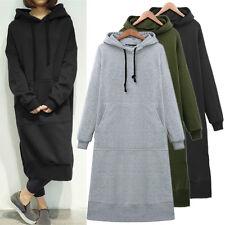 UK Stock Womens Winter Hoodies Sweatshirt Casual Baggy Shirt Dress Kaftan Plus