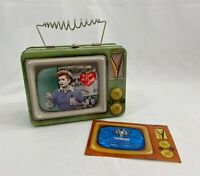 Vandor I Love Lucy Vitameatavegamin Tin Lunch Box VTG Television Set Shape
