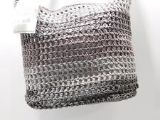 New! $69 The Sak Taupe Color Block Silver Lined Hand Crocheted  Shoulder Bag