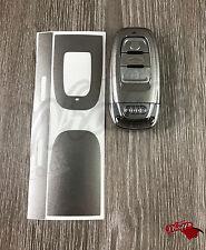 GRIGIO ARGENTO LUCIDO chiave Wrap COVER AUDI SMART REMOTE A1 A3 A4 A5 A6 A8 TT Q3 Q7 5