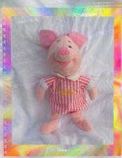 Doudou Peluche Cochon Porcinet Pyjama Et Bonnet De Nuit Rayures Rose Disney