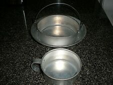 COLEMAN CAMPING SUPPLIES CUP POT PLATE GOOD COOKWARE EQUIPMENT USED 3 PCS.