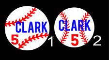 Personalized Monogram Vinyl Decal 3x3 Baseball c