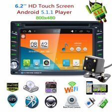 """Android 5.1 Quad Core 6.2"""" Double 2 DIN Car Radio Stereo DVD GPS Player 3G WIFI"""