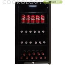 Cookology CBC98BK Undercounter Drinks Fridge   Glass Door Wine & Beverage Cooler