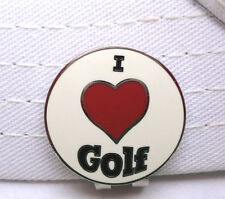 I Love Golf Ball Marker - W/Bonus Magnetic Hat Clip