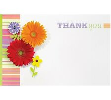 "50ct. Pretty ""Thank You"" Daisy Flowers Blank Florist Enclosure Cards Small Tags"