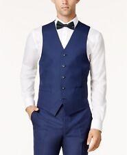 $296 ANDREW MARC NEW YORK Men's CLASSIC FIT BLUE SOLID VESTED SUIT VEST SIZE 48R