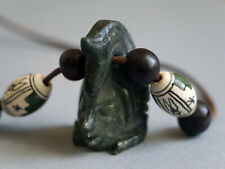 Pendente ciondolo collana Giada Guatemala Maya Precolombiano Oannes Jade Jadeite