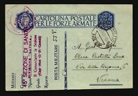 Libya 1941 Ain Zara APO Card to Verona / Top Tear (See Image) - Z17689