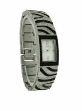 Elgin EG8094 Women's Rectangular Analog Mother of Pearl Black Crystal Watch