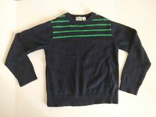 The Children's Place Boys Size S (5-6) Navy Blue Green Stripe Sweater