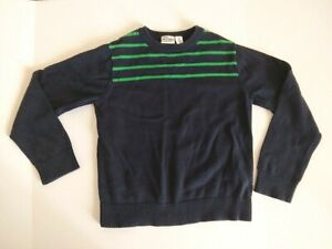 The Childrens Place Boys Size S (5-6) Navy Blue Green Stripe Sweater