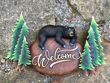 Black Bear Welcome Sign - Cabin, Mountain and Wilderness Home Decor - Handcraft