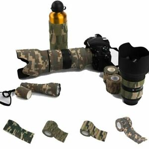 Stealth Hiking Camouflage Bandage Camo Wrap Tapes Self-adhesive Outdoor Tools