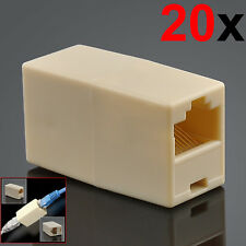 20x RJ45 Cat7 Cat6 Cat5e Network Ethernet Cable Joiner Coupler Connector Adapter