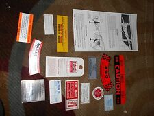 1963 Ford Thunderbird TBird T-Bird Decal Tag Resto Kit