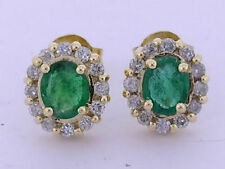 Not Enhanced Emerald Yellow Gold Fine Earrings