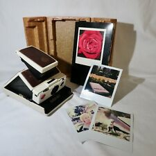 Polaroid SX-70 Land Camera White Model 2 with Manual & interior box.TESTED Works
