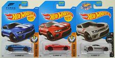 "2016 2017 Hot Wheels: '16 CAMARO SS ""Blue Red & 50th Silver"" 1st Ed. - 3 Car LOT"