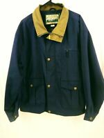 Vintage Field And Stream Cotton/Polyester Navy Blue Mens Windbreaker Size XL