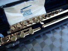 Querflöte Profi Gold 24 Karat H-Fuss, geschlossene Klappen Gold - Flute B-Foot