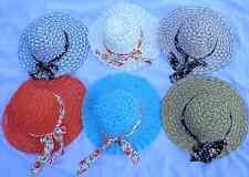 TEA PARTY,SUMMER MESH HAT~6 HATS~GIRL TEA PARTY DRESS UP