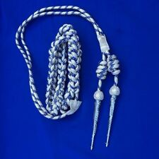 Army Officer Shoulder Aiguillette Silver And Blue Wire/ Aiguillette Wire Cord