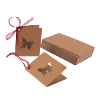 50Pcs Hang Tags Gift Tags Kraft Paper Wedding Favor Tags Mini Greeting Cards