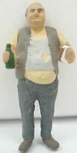 Arttista 1450 Pewter Sloppy Man Eating w/Bottle Pewter Figure