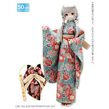Azone 50cm Kimono Set Botan ni Ume Light Blue Yamato VMF50 Obitsu 1/4 BJD MDD