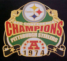 Pittsburgh Steelers 1974 AFC CONFERENCE CHAMPS Comm Series Pin Willabee & Ward