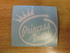 """Princess Inside"" Bumper/Window Sticker - Intel style Vinyl Decal"