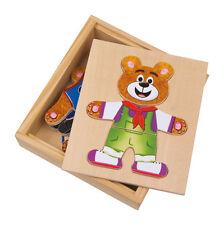 """Orsetto orso da vestire """"Nico"""", orsetto cucciolo, vestiti puzzle a incastro"""