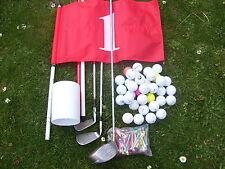 3 Golfschläger  + 100 Crossgolfbälle +  Eine Golffahne + 100 Tees !!!  Crossgolf