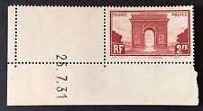 Timbre France, n°258, 2f bruns, xx, TBC, cote 95e.