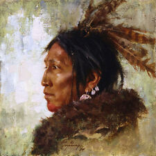 Howard Terpning HAWK FEATHERS Giclee Canvas, Native American, ARTIST PROOF AP#24