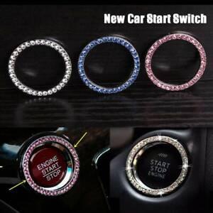 Car SUV Decor Ring Button Start Switch Diamond Ring Trim Accessories Universal