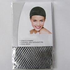 Unisex Schwarz Cosplay Anime Perücke Wig Haarnetz Cap Haube Hair Net Pro#