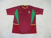 Nike Portugal Soccer Jersey Adult Large Red Green Futbol Football DriFit Mens