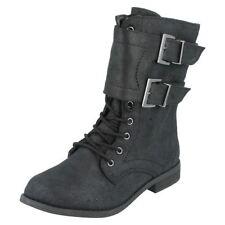 Chaussures noires en synthétique avec zip pour fille de 2 à 16 ans
