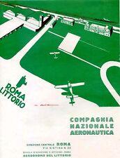 Walter Roveroni - COMPAGNIA NAZIONALE AREONAUTICA-ROMA LITTORIO-fascio 1927