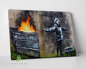 BANKSY Seasons Greetings Graffiti Canvas Art Wall Art Print Picture Canvas -C848