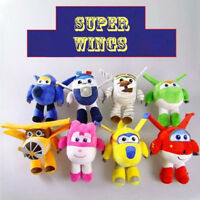 Super Wings 20cm Promoted Plush Toy Jett Dizzy Paul Grand Albert Mira Jerome NEW