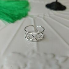 Wire Work Toe Ring Solid 925 Sterling Silver