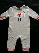 NWT BABY GAP BOYS SWEATER ROMPER HEART UNIVERSITY 3-6 MO NEW