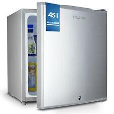 B-Ware Minikühlschrank E (45L) mit Schloss und Frostfach, Silber, Abschließbar