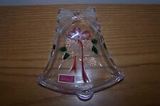 """MIKASA Celebrations Collection Candy Dish  """"Holiday Bells"""" Candy Glass - NIB"""
